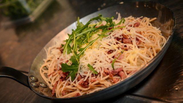 En daar is … Mister Spaghetti!